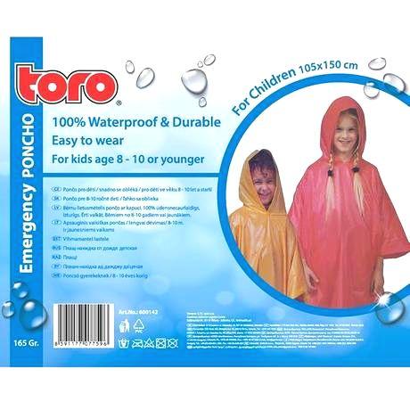TORO Poncho pláštenka pre deti TORO 8-10 rokov