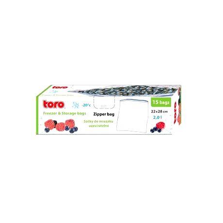 TORO Vrecká na potraviny TORO 15ks 2l