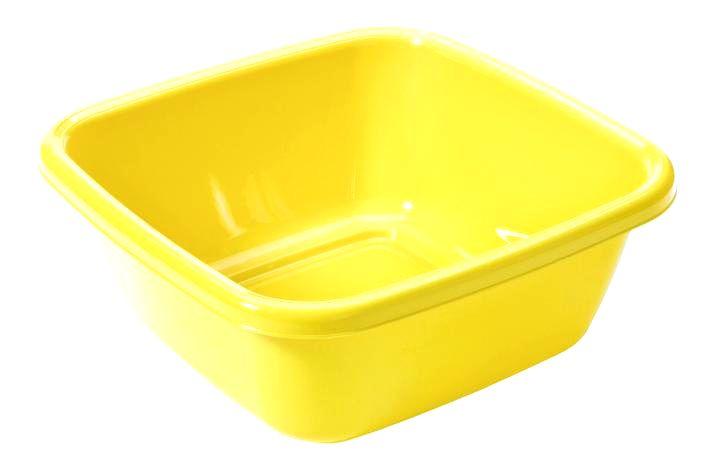 Tontarelli Plastové štvorcové umývadlo TONTARELLI 14l žlté