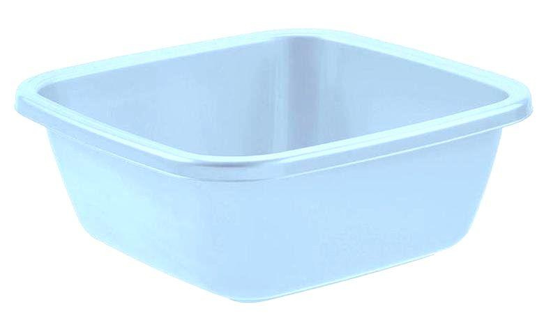 Tontarelli Plastové štvorcové umývadlo TONTARELLI 14l svetlo modré