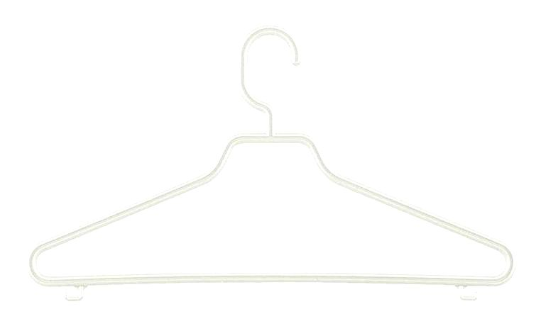 Tontarelli Plastové ramienko s pevným háčikom TONTARELLI Bimbo 3ks biele