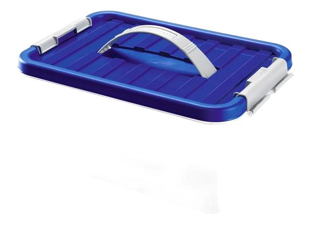 heidrun Plastový úložný box s vekom a uchom HEIDRUN Clip box 5l