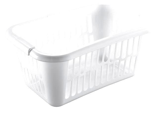 heidrun Plastový kôš na čistú bielizeň HEIDRUN 60x40x25cm biely