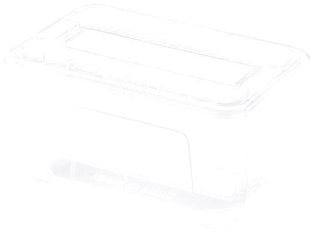 heidrun Plastový úložný box s vekom HEIDRUN TexBox 4
