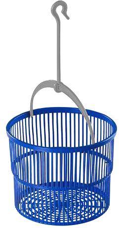 heidrun Plastový košík na  štipce s háčikom HEIDRUN 19cm