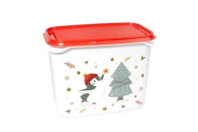 Plastová dóza 1l vianočná