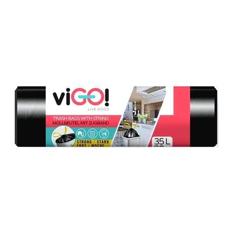 VIGO Zaťahovacie vrecká do odpadkových košov 30l VIGO 20ks