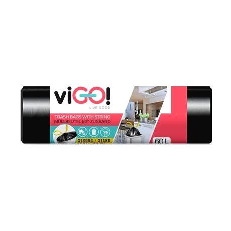 VIGO Zaťahovacie vrecká do odpadkových košov 60l VIGO 15ks