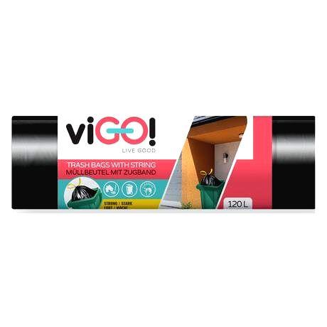 VIGO Zaťahovacie vrecká do odpadkových košov 120l VIGO 10ks