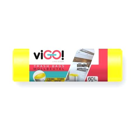VIGO Vrecká do odpadkových košov 60l VIGO 10ks žltý